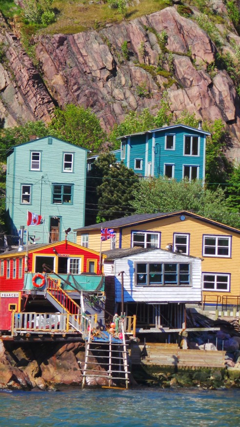 The St. John's neighbourhood guarding the entrance to the harbour is called The Battery.