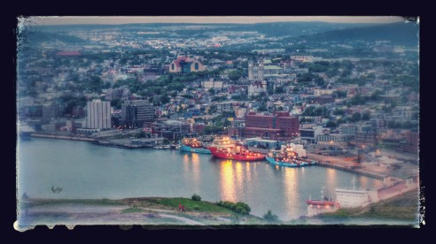 The view from the top of  Signal Hill.