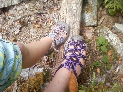 """Where Our Feet Have Been"" - Mine and Lou's at Morris Islans Conservation Area."