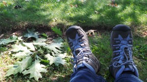 Me.  Resting my feet under my Northern Red Oak.  Decided to share my silly picture anyhow!!!