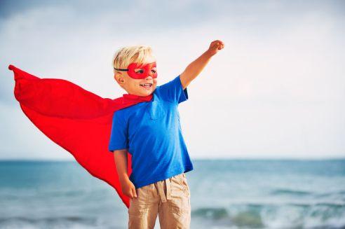 40268462 - super hero kid